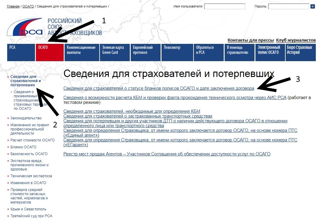 Проверка по базе РСА