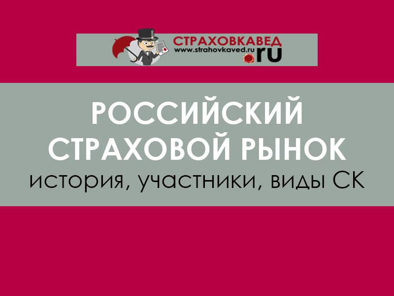 Российский страховой рынок